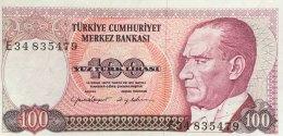 Turkey 100 Lirasi, P-194b (1984) - AU - Türkei