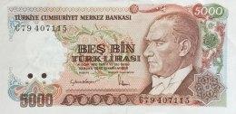 Turkey 5.000 Lirasi, P-197 (1985) - EF/XF++ - Türkei