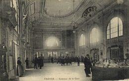 TROYES  Interieur De La Gare RV Cachet Tresor Et Postes 29 - Troyes