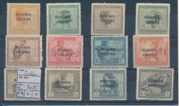 BELGIAN CONGO  RUANDA URUNDI BOX 2 COB 50/61 MNH - Ruanda-Urundi