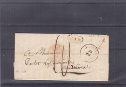 Belgique - Lettre De 1943 - Précurseur - Oblit Tournay - Exp Vers Beaune - Cachet Belgique Lille Et R.I.R. - 1830-1849 (Belgique Indépendante)