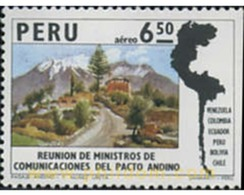 Ref. 352393 * MNH * - PERU. 1974. REUNION DE MINISTROS DE COMUNICACIONES DEL PACTO ANDINO - Peru