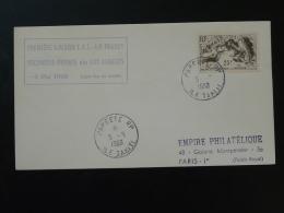 Lettre Premier Vol First Flight Cover Tahiti Polynesie Los Angeles Liaison TAI 1960 - Lettres & Documents