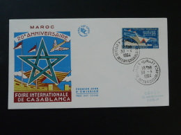 FDC Foire De Casablanca Poste Aerienne Maroc 1964 - Marocco (1956-...)