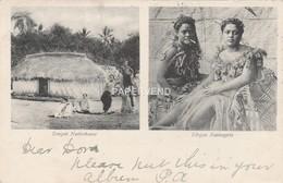 TONGA Native Girls & House Post Used 1908 Tulagi, British Solomon Island Stamp  Opi15 - Tonga
