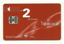 Malta - Tessera Telefonica Da 40 Units T545 - Telemalta- - Malta