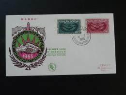FDC Cooperation Internationale Main Hand Maroc 1965 - Marocco (1956-...)