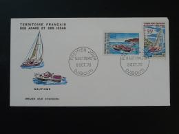FDC Nautisme Bateau Ship Afars Et Issas 1970 - Brieven En Documenten