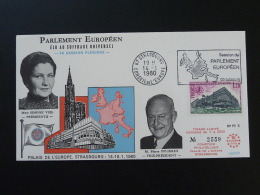 FDC Parlement Européen Simone Veil Judaica Flamme Strasbourg Conseil De L'Europe 1980 - EU-Organe
