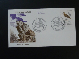 FDC Lettre Cover Circaete Expo Nature Et Champignon 25 Seloncourt Doubs 1985 - Eagles & Birds Of Prey