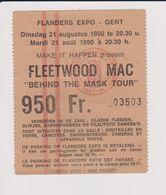 Concert FLEETWOOD MAC Behind The Mask Tour 21 Août 1990 GENT. - Tickets De Concerts