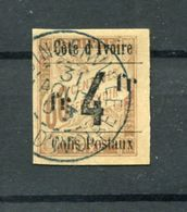 !!! PRIX FIXE : COTE D'IVOIRE, COLIS POSTAL N°11 OBLITERE, SIGNE - Usados