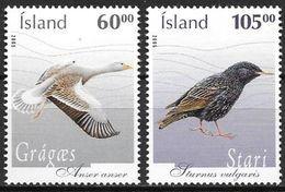 Islande 2005 N°1039/1040 Neufs** Oiseaux - 1944-... Republik