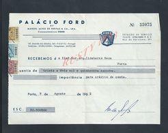 PORTUGAL AUTOMOBILE FACTURE 1962 PALACIO FORD MANUEL ALVES À PORTO : - Portugal