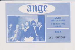Concert ANGE 16 Mars 1990 Lille. - Tickets De Concerts