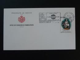 Lettre Cover Flamme Concordante Congrès Des Jouets Monaco 1990 - Postmarks