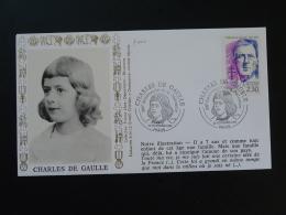 Lettre Cover FDC General De Gaulle Enfant Paris 1990 - De Gaulle (Général)