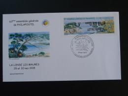FDC Assemblée Générale Philapostel 83 La Londe Les Maures Var 2015 - 2010-... Illustrated Franking Labels