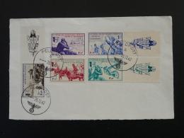 Série Borodino LVF Contre Le Bolchevisme Sur Devant De Lettre Oblit. Feldpost 1942 - Marcophilie (Lettres)