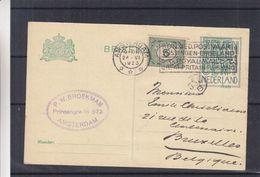 Pays Bas - Carte Postale De 1923 - Oblit Amsterdam - Exp Vers Bruxelles - Voir Cachet - 1891-1948 (Wilhelmine)