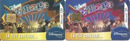 """2 Télécartes """" DISNEY VILLAGE LA FETE CONTINUE """" 50 Et 120 U - 08/03 (N°1264A Et 1265) - Disney"""