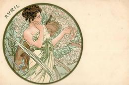Mucha, Alfons Frau Avril Jugendstil I-II Art Nouveau - Mucha, Alphonse
