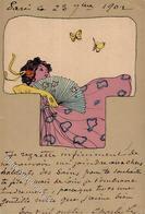 Kirchner, R. Frau Schmetterlinge Künstlerkarte I-II - Kirchner, Raphael