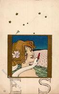 Kirchner, R. Frau Schwan Künstlerkarte 1902 I-II - Kirchner, Raphael