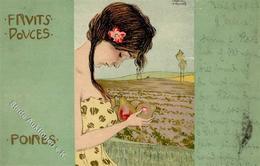 Kirchner, R. Fruits Douces Poires Künstlerkarte 1902 I-II - Kirchner, Raphael