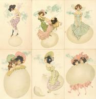 Kirchner, Raphael 6'er Serie Frauen Eier Künstler-Karten I-II Femmes - Kirchner, Raphael