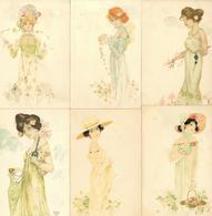 Kirchner, Raphael 6'er Serie Frauen Künstler-Karten I-II Femmes - Kirchner, Raphael