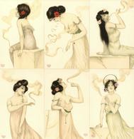 Kirchner, Raphael 6'er Serie Frauen Rauchen Künstler-Karten I-II Femmes - Kirchner, Raphael