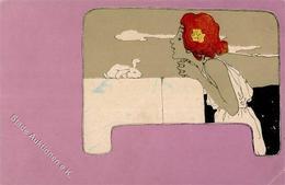 Kirchner, Raphael Frau Hase Künstler-Karte I-II (Eckbug) - Kirchner, Raphael