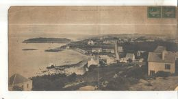 Treboul, Panorama Des Sables Blancs, Environs De Douarnenez (Carte Format 14 X 28 Vendue Dans L'état) - Tréboul