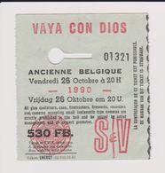 Concert VAYA CON DIOS 26octobre 1990 Ancienne Belgique. - Concert Tickets