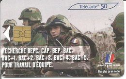 """Télécarte """" ARMEE DE TERRE N°2 """" 50 U GEM2 - 04/03 (N°1237 I) - Armée"""