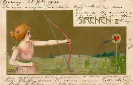 Jozsa, Carl Sirenen III Künstlerkarte 1900 I-II (fleckig) - Künstlerkarten