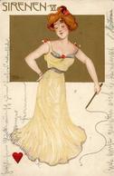 Jozsa, Carl Sirenen VI. Künstlerkarte 1900 I-II - Künstlerkarten