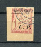 !!! PRIX FIXE : COTE D'IVOIRE, COLIS POSTAL N°15 OBLITERE, COIN DE FEUILLE, SIGNE BRUN - Ivory Coast (1892-1944)