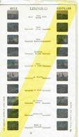 STEREOCARTE LESTRADE. 10 Vues Kodachrome - LENINGRAD.   1950/58. - Diapositives