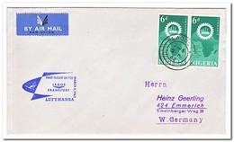 Nigeria 1962, First Flight LH721, Lagos-Frankfurt - Nigeria (1961-...)
