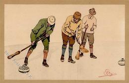 Pellegrini, A. H. Curling Künstlerkarte I-II - Künstlerkarten