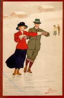 Pellegrini, A. H. Winter Schlittschuh Laufen Künstlerkarte 1915 I-II - Künstlerkarten