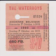 Concert THE WATERBOYS 7 Novembre 1990 Ancienne Belgique. - Tickets De Concerts