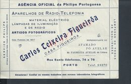 PORTUGAL AGENCE PHILIPS PORTUGAISE RADIO TELEFONIA CARLOS TEIXEIRA PORTO : - Portugal
