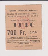 Concert TOTO 18 Septembre 1990 à Forest National  B. - Tickets De Concerts