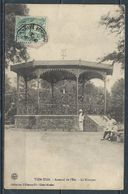 1908 CHINA PPC TIENTSIN EAST ARSENAL THE KIOSK FRENCH SOLDIERS- FRANCE OFFICES - Chine