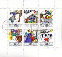 """(DDR-Bl) DDR Kleinbogen Mi 1995/2000 """"Märchen: Zwitscher Hin Und Zwitscher Her""""  TSt. 4.10.76 KÖLLEDA - [6] Democratic Republic"""