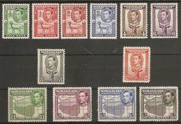 SOMALILAND 1938 SET SG 93/104 (LIGHTLY) MOUNTED MINT Cat £150 - Somaliland (Protectorate ...-1959)