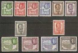 SOMALILAND 1942 SET SG 105/116 (LIGHTLY) MOUNTED MINT Cat £48 - Somaliland (Protectorate ...-1959)